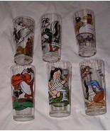 Looney Tunes Pepsi Scene Glass Lot 1976 6 different Pepe Le Pew Road Run... - £50.43 GBP