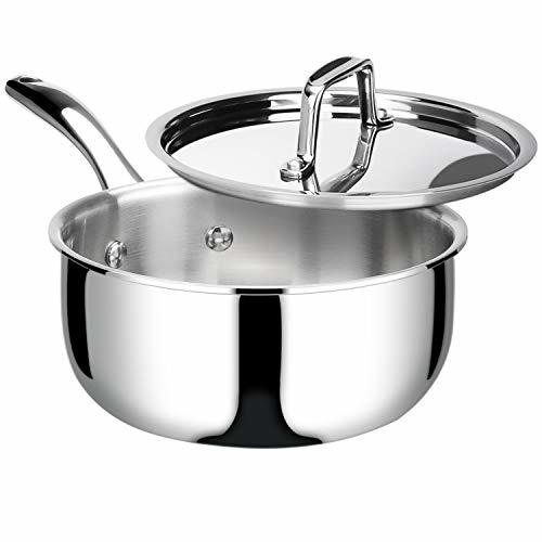 Primary image for Duxtop Whole-Clad Tri-Ply Stainless Steel Saucepan with Lid, 3 Quart, Kitchen In