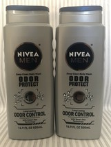 NIVEA Men Odor Protect Deep Clean Body Wash Lasting Control 16.9 oz ~ Lo... - $40.00