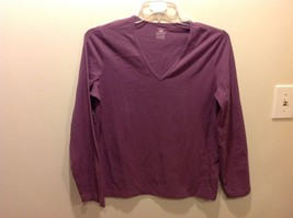 Jones SPORT Purple V Neck Long Sleeve Top Sz XL