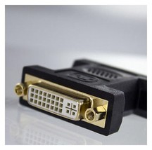 DVI-I Female 24+5 Pin to VGA Male 15-pin Connector Adapter.                 A12