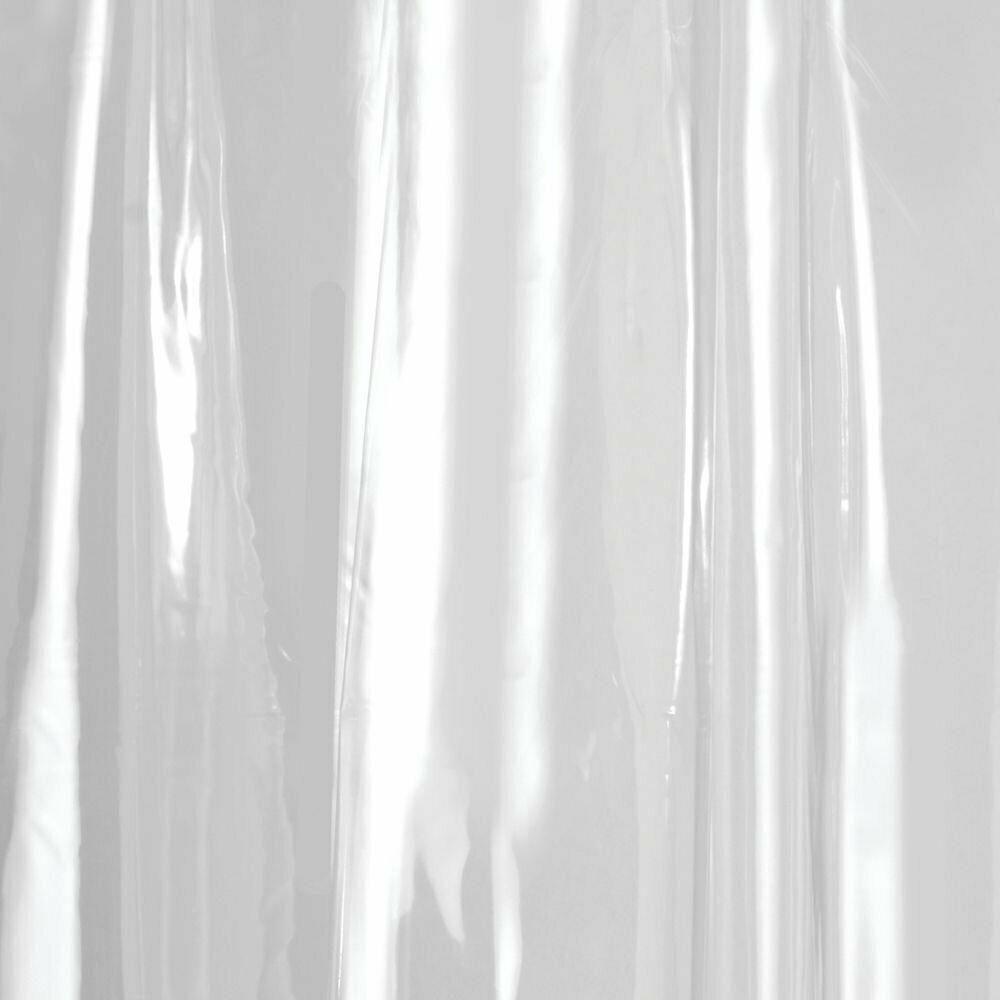Interdesign Vinyl Long Liner, Mold And Mildew Resistant Plastic Shower Use Alone