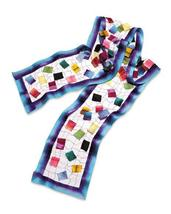 "Smithsonian Silk Mosaic Scarf 54"" Long - $49.99"