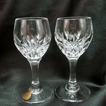 Nachtmann Helena Cordial Glasses 2 oz Set of 2 Cut Teardrops Crystal Sho... - $21.78
