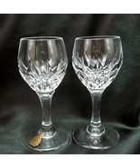 Nachtmann Helena Cordial Glasses 2 oz Set of 2 Cut Teardrops Crystal Sho... - $21.78