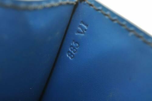 LOUIS VUITTON Epi Free Run Shoulder Bag Black Blue M52415 LV Auth 9735 image 12