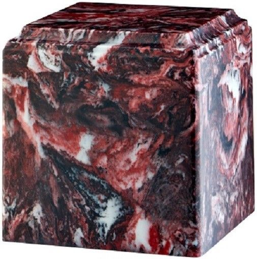 Primary image for Large/Adult 280 Cubic Inch Firerock Cultured Marble Cube Cremation Urn for Ashes