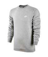 Nike Club Fleece Crew Neck Men's T-Shirt Grey Heather-White 804340-063 - $39.95
