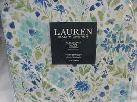 "Ralph Lauren Caroline Floral Blue Grass Indoor/Outdoor Tablecloth 70"" Round - $35.00"