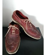 Cole Rood Haan Shoes Loafers Lace Up Red Size 12 US Mens Leather Dressy ... - $44.50