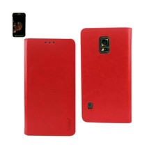 REIKO SAMSUNG GALAXY S5 ACTIVE FLIP FOLIO CASE WITH CARD HOLDER IN RED - $8.89