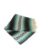 #11 Two 2 Falsa Tourist Mexican Travel Blanket Yoga Throw Picnic Snuggle... - £23.33 GBP
