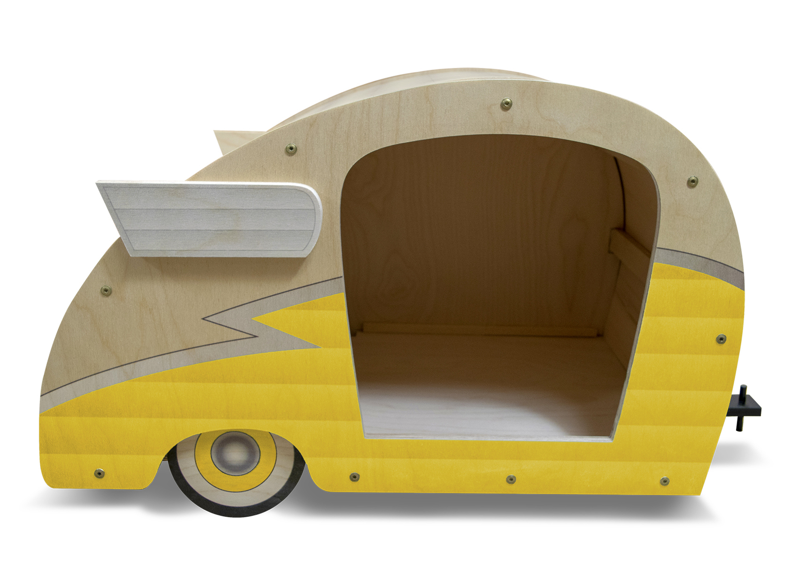 Primary image for Retro Shasta Camper Dog Bed (Lemon Yellow)