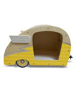 Retro Shasta Camper Dog Bed (Lemon Yellow) - £219.50 GBP