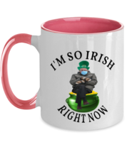 St Patrick's Day Mugs I'm So IRISH Right Now Bernie Sanders Pink-2T-Mug  - $17.95