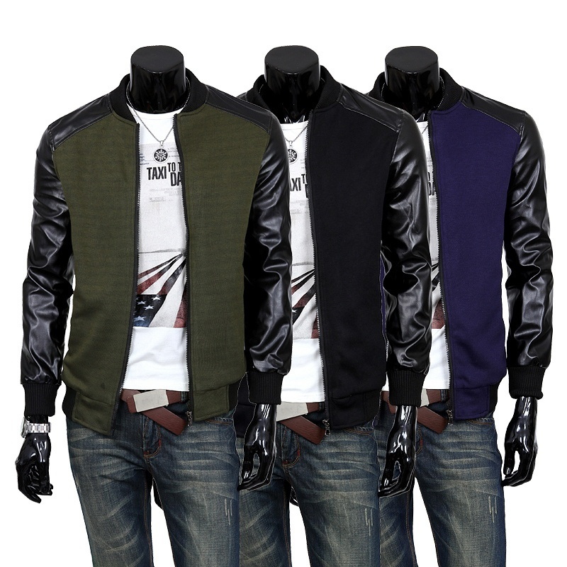 Men Solid Color Jacket Coat Men Casual Cotton Jacket Coat