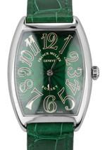 Franck Muller Cintree Curvex Sunset 30x38mm Green 18K White Gold Watch 2852SC - $5,993.95