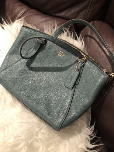 f4009fb98 12. 12. Previous. NWT Coach F28994 Mini Kelsey Satchel Crossbody in Pebble  Leather Dark Turquoise. NWT Coach F28994 ...