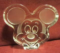 MICKEY MOUSE HEAD GLASS PAPER WEIGHT - SUPER - $23.70
