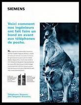 Siemens Telephone Ad 1996 French Text Kangaroos Mommy Pouch Baby Wireles... - $14.99