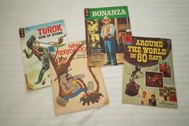 Vintage Gold Key Dell Comic Books Bonanza Turok New Terrytoon Around The World - $28.71