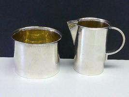 1980 Modern V HOLMSTRUP Sterling Silver Sugar & Creamer Set DENMARK 925S... - $494.99