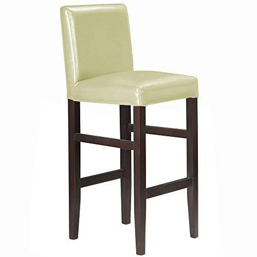 Primary image for Modernhome Kendall Contemporary Wood/Faux Leather Barstool - Cream