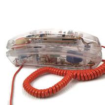 Vintage Lonestar See Through Clear Plastic Land Line Telephone Phone - $14.84
