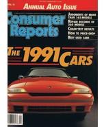 ORIGINAL Vintage 1991 Consumer Reports Magazine Cars Issue - $14.84