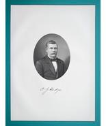 ORLANDO HODGE Ohio Printing Office Businessman & Senator - 1883 Portrait... - $19.80