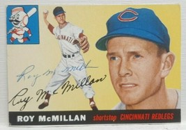Original Topps 1955 Roy McMillan #181 Signed Autograph Trimmed Authentic... - $29.99