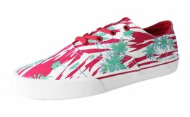 Supra Mens Wrap Red /Print White Skateboarding Shoes Tropical Palm Trees
