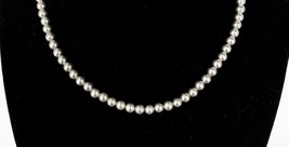 Vintage .925 Sterling Silver Bead Ball Toggle Clasp Dainty Choker Neckla... - $35.99