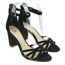 VINCE CAMUTO Catelia Black Leather Strappy Block Heel Shoes EUC - $18.04