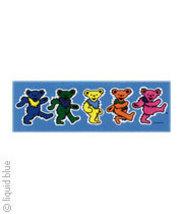 Grateful Dead Dancing Bear Vinyl Bumper Sticker  Deadhead Hippie   Car Decal - $5.49