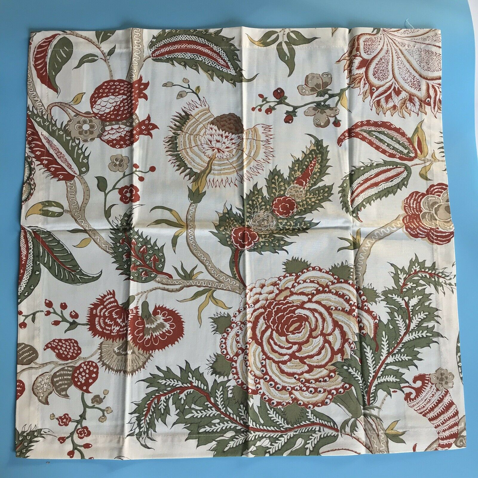 Chinese Silk Ivory  floral Caspari paper lunch napkins 20 pack 33 cm sq 3 ply