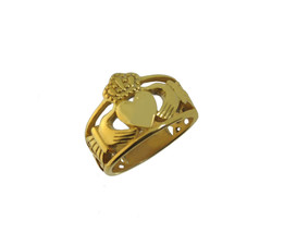 New Heavy Wide 10K Yellow Gold Claddagh Ring Infinity knot Jewelry pick ... - $799.99