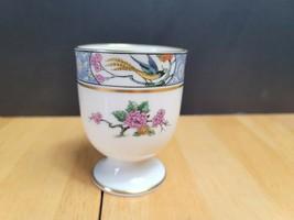 Lenox Ming Birds Large Single Egg Cup (1) Birds Floral Black Backstamp - $14.80