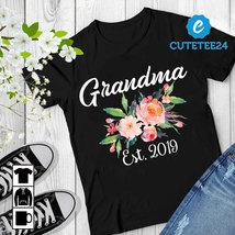 Personalized Grandma Est 2019 Unisex T-shirt, Gift for Grandma, Aunt, Mommy - $21.99+