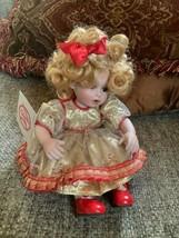 "Marie Osmond - Candi Cane Tiny Tot porcelain doll 5"" Style C1494 - $29.99"