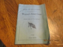 1922 BOOKLET RULES & REGULATIONS OF WOMEN'S RELIEF CORP & OWNERS CARD - $17.82