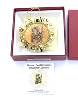 Hummel Gold Christmas Ornament Praise To God  1987 In Original Box - $9.64