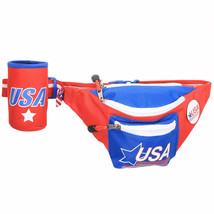 USA Vintage Fanny Pack With Can Cooler Red - $26.98