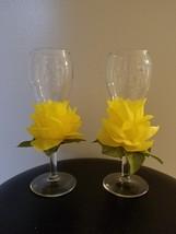Floral Champagne Glasses - $15.00