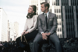 Audrey Hepburn and George Peppard in Breakfast at Tiffany's New York street Colo - $23.99