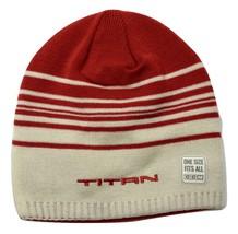 Titan Hockey Retro CCM Knit Striped Beanie Winter Hat 888 - £13.53 GBP