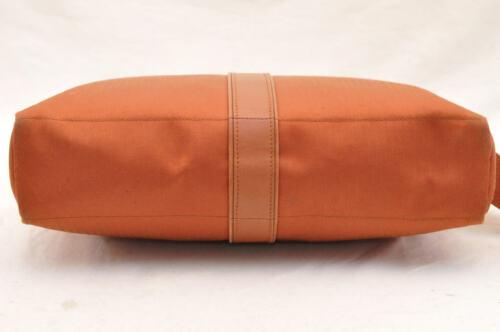 HERMES Acapulco Besace Coton Leather Orange Shoulder Bag Auth 5186 image 8