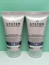 x2 Wella System Professional Intensive Color Save Mask Masque Travel (1 ... - $9.99