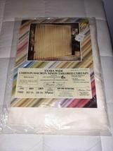 NEW Vtg Window Pride Chiffon Dacron Ninon Tailored Curtain 1 panel 7060-... - $21.49
