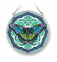 "Fritillary Flourish Beauty Sun Catcher AMIA 4.5"" Round Glass New Butterfly  - €19,83 EUR"